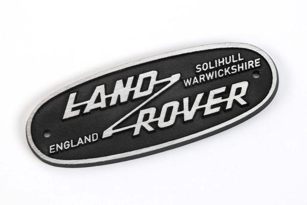 Nostalgie-Logo Land Rover aus Aluguss