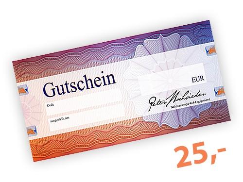 25 EUR Geschenk-Gutschein