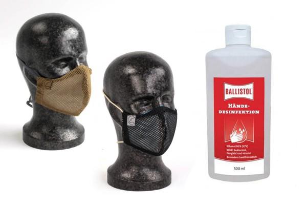 Nakatanenga Gesichtsmaske inkl. Filter und Desinfektionsmittel