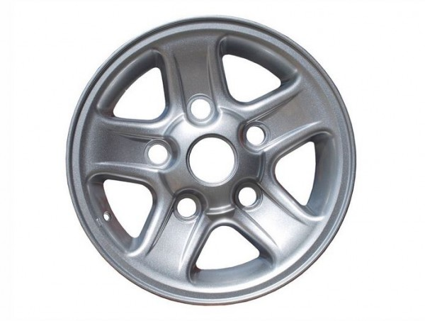 """Boost Style Felge silber 7x16"""" für Land Rover Defender, Discovery 1 und Range Rover Classic"""