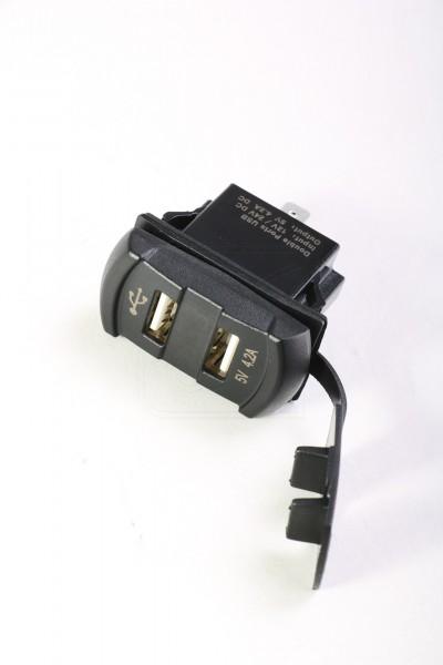 Doppel USB Einbausteckdose 12v