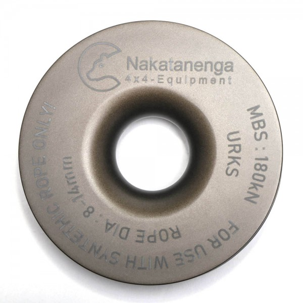 Nakatanenga pulley for plastic ropes, with and without soft shackles