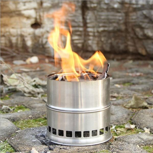 Outdoor-Kocher, Vielstoffbrenner, für Holz oder Alkohol