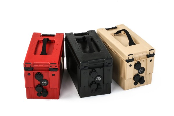Battery box with different connections