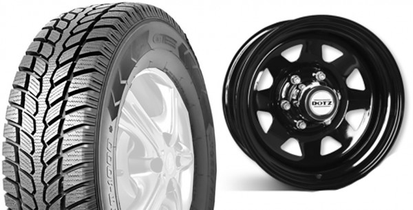 Winter Tire-Set GT-Radial Maxmiler WT 1000 235/85R16 on Dotz Steel Rims for Landrover Defender